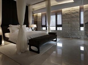 ,220平,30万,现代,四居,卧室,黑白,