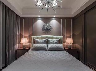欧式三居-上海实创装饰打造上海奉贤区欧式风格贵气装修冷色调也可以这么美