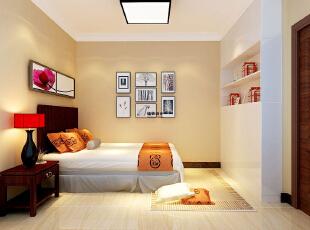 国龙绿城怡园89平方两室两厅现代简约装修效果图 卧室,89平,5万,现代,两居,卧室,