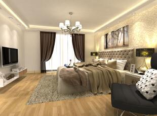 ,105平,12万,现代,三居,卧室,白色,
