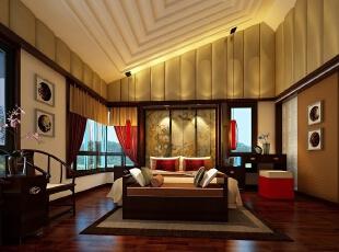 ,600平,300万,中式,别墅,客厅,黄白,