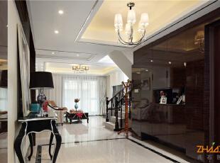 ,183平,20万,新古典,别墅,客厅,黑白,
