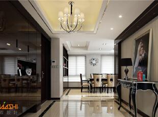 ,183平,20万,新古典,别墅,餐厅,灰白,