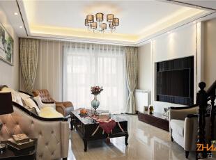 ,183平,20万,新古典,别墅,客厅,白色,