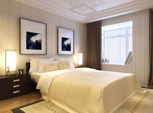 ,98平,8万,现代,两居,卧室,白色,