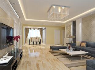 ,118平,10万,现代,三居,客厅,