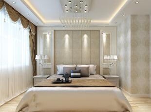 ,118平,10万,现代,三居,卧室,黄白,
