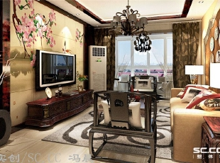 简约的沙发背景,和电视背景墙相互呼应,带有中式元素的软装配饰,让整个空间增色不少。,140平,9万,现代,三居,客厅,原木色,