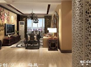独特的造型酒柜,不仅装饰了空间,又满足了储物的要求。,140平,9万,现代,三居,客厅,原木色,