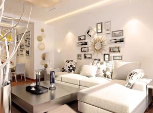,85平,7万,现代,两居,客厅,白色,