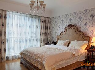 描述:乡村情怀,维多利的柔美在这里绽放。,110平,8万,地中海,三居,卧室,白色,
