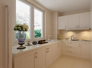 ,97平,8万,现代,两居,厨房,白色,