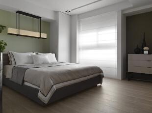 ,186平,20万,四居,现代,卧室,白绿,
