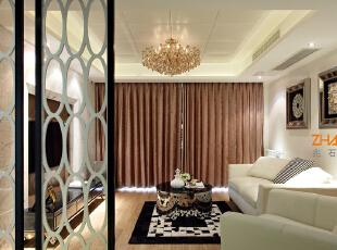 ,130平,8万,现代,三居,客厅,白色,