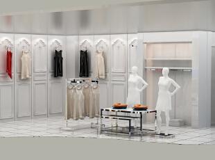 三彩店面设计,1500平,15000万,韩式,公装,白色,简约,