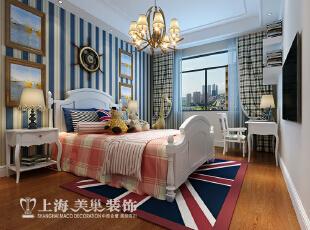 橄榄城158平4室2厅简美风格装修样板间——卧室装修效果图,158平,10万,美式,四居,卧室,