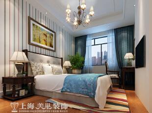 橄榄城158平4室2厅简美风格装修案例——卧室1装修效果图,158平,10万,美式,四居,卧室,