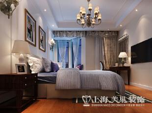 橄榄城158平4室2厅简美风格装修方案——卧室2装修效果图,158平,10万,美式,四居,