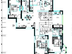 橄榄城158平4室2厅简美风格装修户型图,158平,10万,美式,四居,