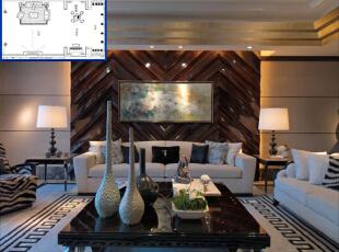 ,600平,50万,欧式,大户型,客厅,棕色,白色,