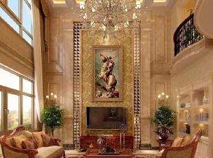 ,450平,200万,别墅,美式,客厅,黄色,