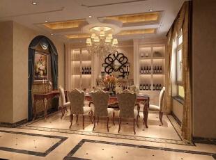 ,450平,200万,别墅,美式,餐厅,白色,