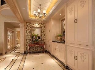,450平,200万,别墅,美式,客厅,白色,