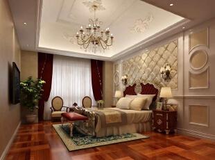 ,450平,200万,别墅,美式,卧室,白色,