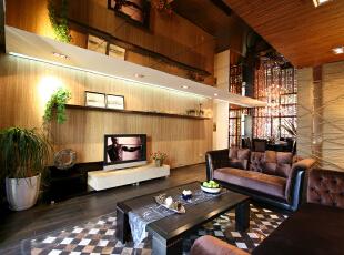 ,135平,24万,混搭,小户型,玄关,客厅,餐厅,现代,黄色,原木色,