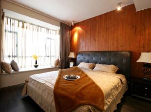 ,135平,24万,混搭,小户型,现代,原木色,黄色,卧室,