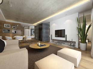 ,140平,26万,现代,四居,客厅,餐厅,简约,白色,原木色,黑白,