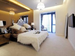 ,135平,8万,现代,三居,卧室,黄白,