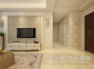 升龙又一城90平两室两厅简欧风格装修效果图--入户门,90平,8万,欧式,两居,客厅,黄白,
