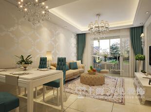 升龙又一城90平两室两厅简欧风格装修效果图--餐厅,90平,8万,欧式,两居,餐厅,白色,