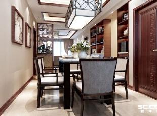 新中式家具以文化的韵味、混搭的材质、人性化的功能和设计,体现了一种海纳百川的包容及融合中通的和谐,美丽而不呆板、巧妙而不杂乱。,135平,15万,中式,三居,餐厅,原木色,