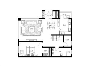 ,165平,20万,欧式,Loft,玄关,客厅,餐厅,卧室,厨房,书房,儿童房,阳台,卫生间,
