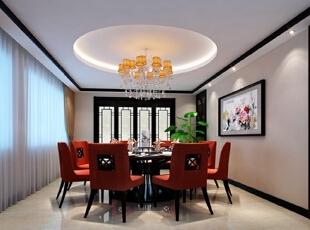 ,中式,复式,餐厅,古典,黑白,
