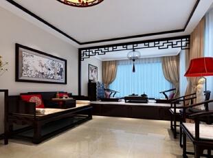,40万,中式,复式,客厅,新古典,黑白,