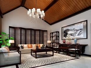 ,268平,40万,中式,复式,客厅,新古典,原木色,黑白,