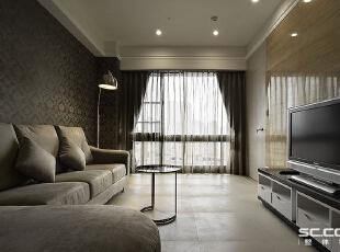 ,98平,12万,现代,两居,客厅,黑白,