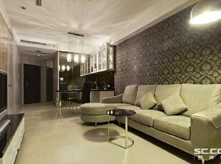 ,98平,12万,现代,两居,客厅,白色,