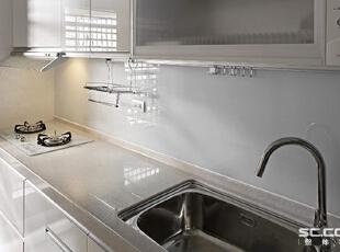 ,98平,12万,现代,两居,厨房,白色,