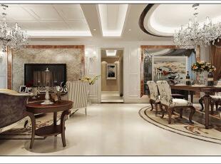 ,130平,11万,现代,四居,客厅,黄白,