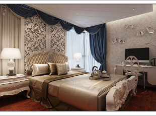 ,130平,11万,现代,四居,卧室,白色,