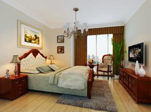 ,128平,10万,欧式,三居,卧室,白色,原木色,