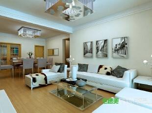 ,126平,99800万,现代,三居,客厅,白色,