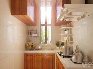 厨房设计: L型的厨房充分利用空间,整体的暖色调,让不爱下厨房的80后从此爱上厨房。 亮点:整体橱柜与墙地砖搭配,更具食彩,给人焕然一新的感觉,让从厨房做完的美味更具特色。从此更喜欢这个空间。,143平,12万,现代,四居,