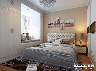 卧室将飘窗做成榻榻米形式,将空间合理利用,墙壁用柜门做装饰,更有格调。,134平,9万,现代,三居,