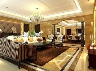 ,300平,30万,欧式,别墅,客厅,黄白,