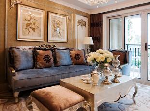 ,80平,30万,现代,两居,客厅,黄白,